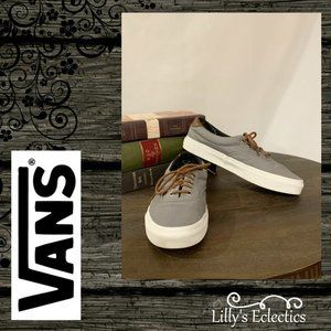 Vans Unisex Off The Wall Gray Canvas Sneakers